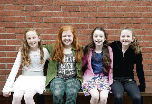 Maria Keelings, Lucy Carolan, Calla Hughes, and Sarah O'Connor at the auditions for the musical 'Annie'