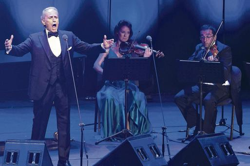 The Jose Carreras performance last night at the Bord Gais Energy Theatre in Dublin