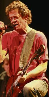 Lou Reed performing on stage at Live at the Marquee in Cork, 2008