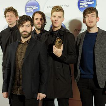 The Foals arrive at the Barclaycard Mercury Music Prize ceremony at the Roundhouse, Camden
