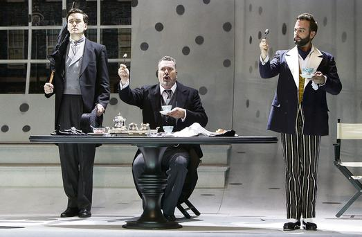 Hysterically funny: Christopher Cull and Stephen Richardson in 'The Importance of Being Earnest'