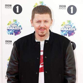 Professor Green was involved in a crash at the weekend