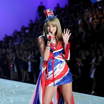Singer Taylor Swift was flying the flag at the Victoria's Secret Fashion Show