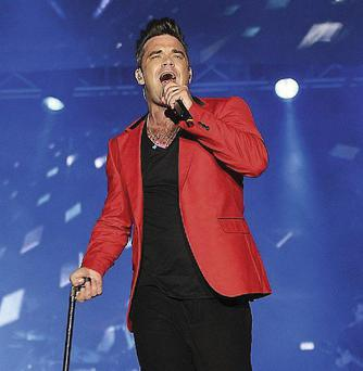 Ticking boxes: Robbie Williams