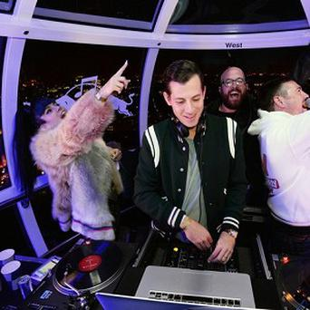 Lily Allen performed on the London Eye