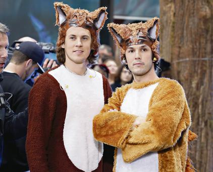 Clever fox: The Norwegian brothers' song has racked up 220 million hits and counting on YouTube