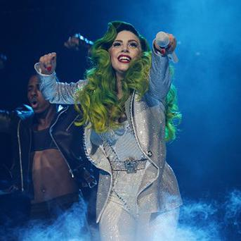 Lady Gaga closed the 2013 Capital FM Jingle Bell Ball at the O2 Arena, London