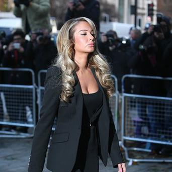 Tulisa Contostavlos arrives at Westminster Magistrates Court