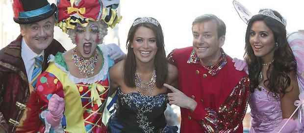 Bryan Murray, Rob Murphy, Michelle McGrath, Alan Hughes and Nadia Forde starred in the Jack and The Beanstalk panto at the Tivoli last year.