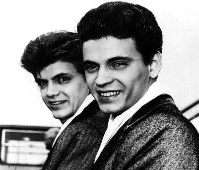 Phil Everly (left), brother of Don and one half of American duo The Everly Brothers, died on January 3 aged 74