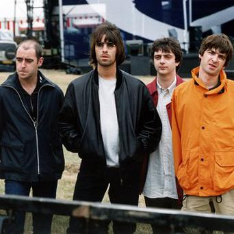Oasis ahead of their Knebworth gig in 1999