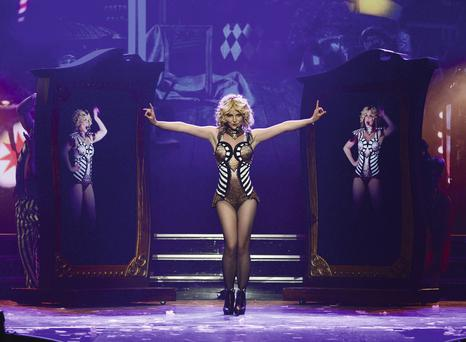 Britney in her Las Vegas show, which will run for two years and earn her a reported $300,000 a night