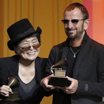Yoko Ono and Ringo Star (AP)
