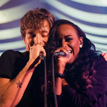 Paolo Nutini was joined on stage by Angel Haze
