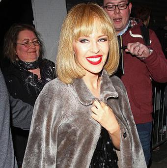 Kylie Minogue has performed a secret gig at a London pub (Rex)
