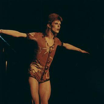 David Bowie in his 1970s Ziggy Stardust costume worn by Kate Moss as she collected his Brit Award (Bowie PR/PA)