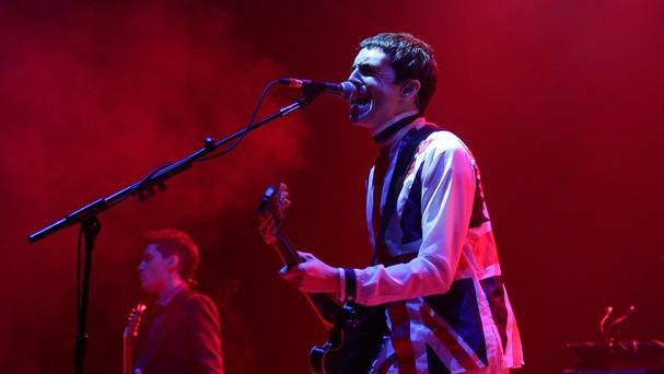 Miles Kane performs on stage