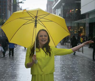 Vikki Binns who played Molly Dobbs in Coronation Street and is appearing in the Bord Gais Energy Theatre in 'Singin in the Rain' pictured outside Arnotts in Dublin. Picture: Gareth Chaney/Collins Photography