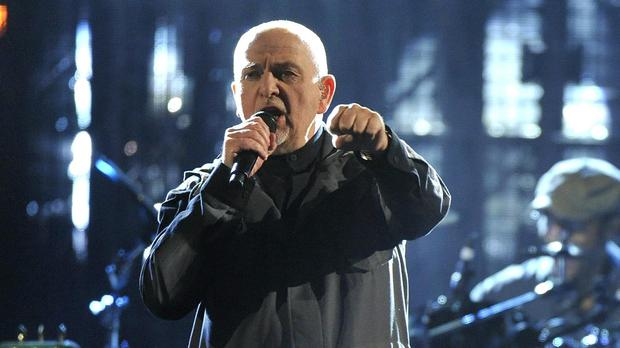 Peter Gabriel performs at the 2014 Rock and Roll Hall of Fame induction ceremony