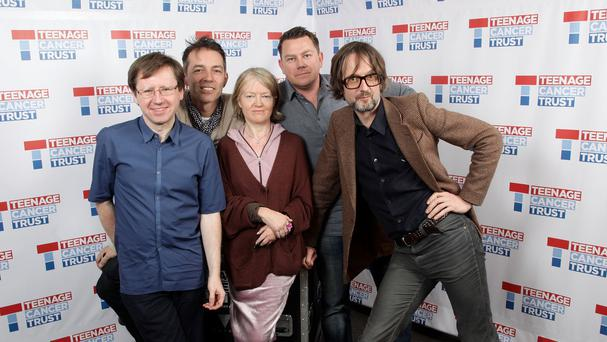 Pulp's drummer Nick Banks (second from right) says he didn't like their hit Common People to begin with