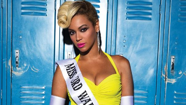 Beyonce pretends to take part in a beauty pageant in the music video for her new single Pretty Hurts