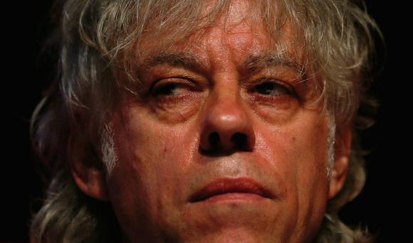 Singer Bob Geldof attends a media launch of the Africa Progress Report 2014 in London yesterday. It was his first public appearance since the death of his daughter Peaches.