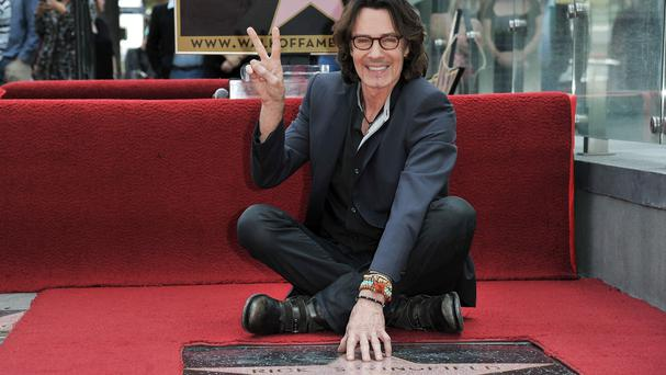 Rick Springfield attends the ceremony honouring him with a star on the Hollywood Walk of Fame in Los Angeles (Richard Shotwell/Invision/AP)