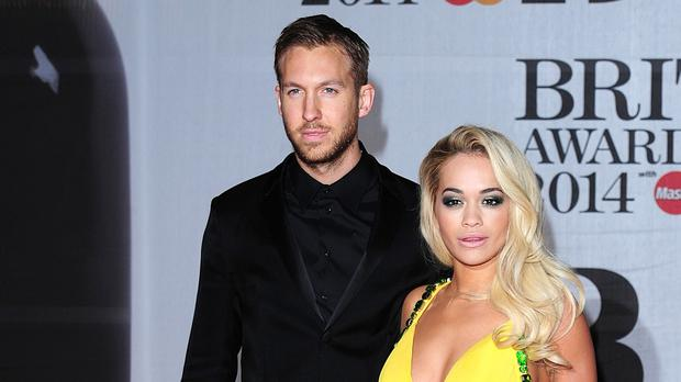 Rita Ora and former partner Calvin Harris