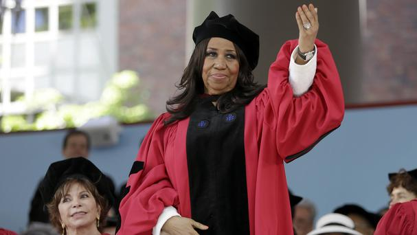 Singer Aretha Franklin received an honorary degree from Harvard