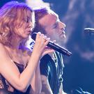 Kylie Minogue performs with Coldplay at The Enmore Theatre in Sydney, Australia (Daniel Boud)