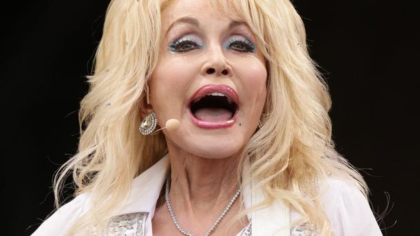 Dolly Parton drew about 100,000 people to the Pyramid Stage at Glastonbury on Sunday