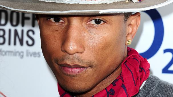 Pharrell Williams is one of the O2 Silver Clef Awards winners