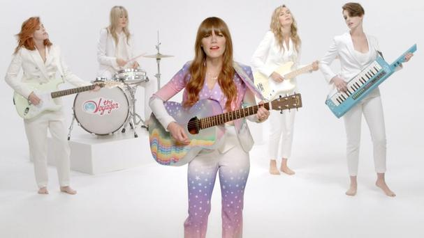 Jenny Lewis was joined by some familiar faces in her music video
