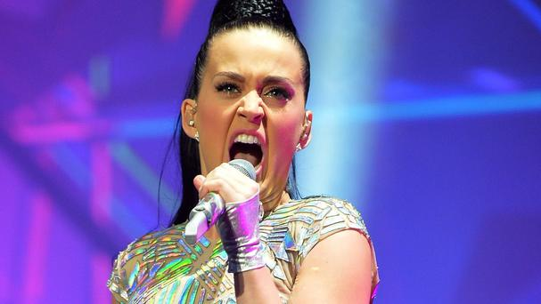 Katy Perry had acupuncture herself - after eating fish which had gone through the same treatment
