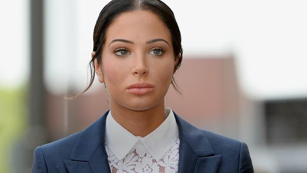 Tulisa Contostavlos arrives at Stratford Magistrates' Court in London