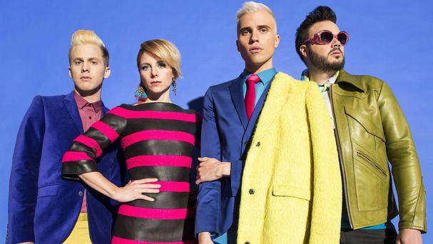 Neon Trees' frontman Tyler Glenn says the third album was celebratory