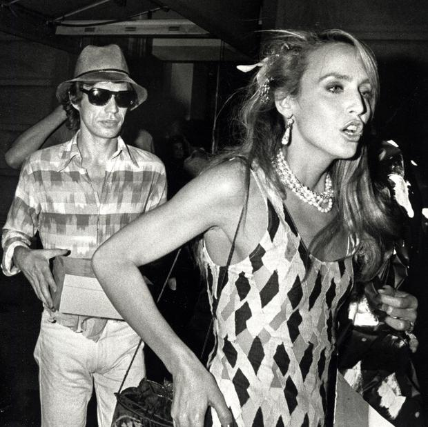 Singer Mick Jagger and model Jerry Hall