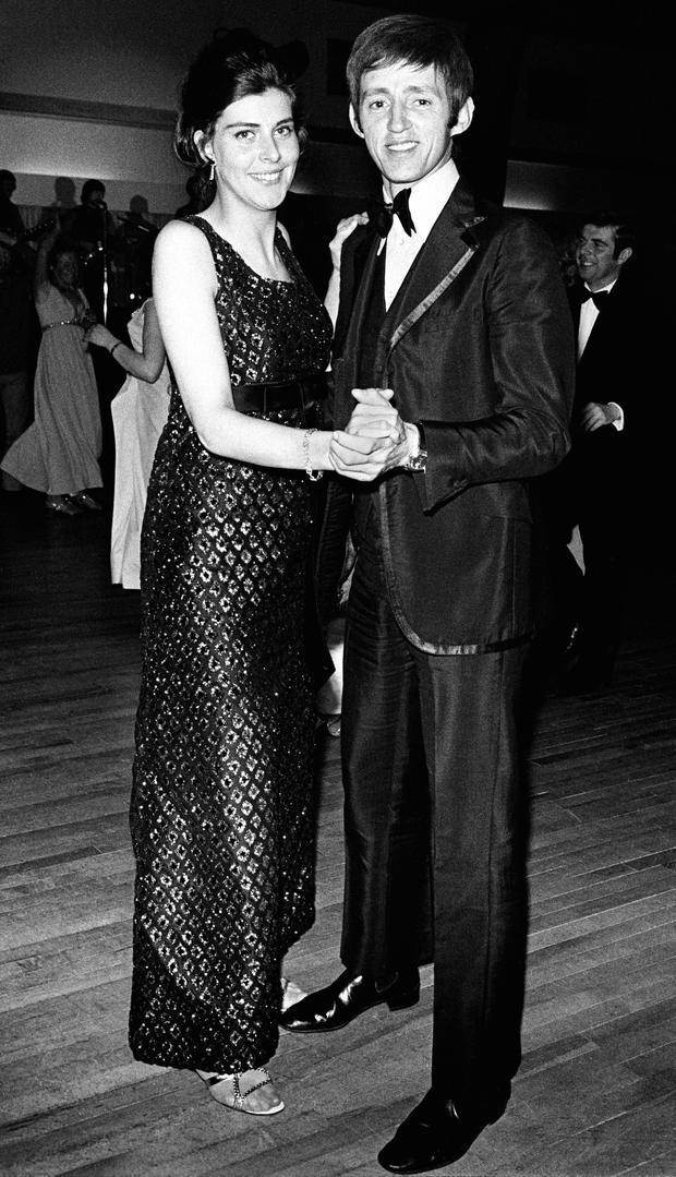 Dickie Rock of The Miami Showband and his wife, Judy, at a 'New Spotlight' Charity Dinner, Dublin, April 1970