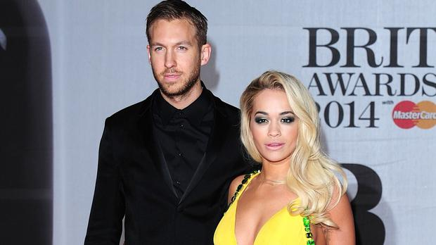 Rita Ora and ex Calvin Harris