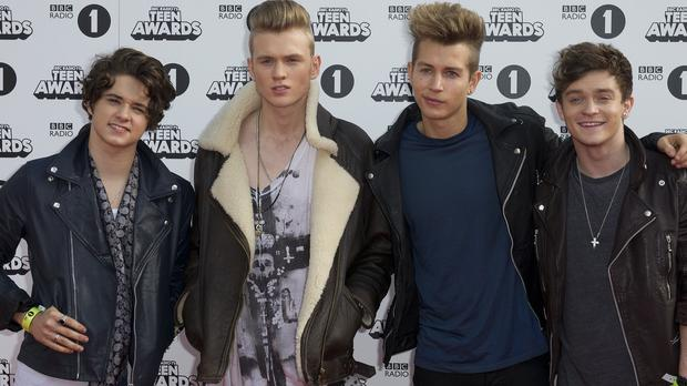 The Vamps arrive for the Radio 1 Teen Awards