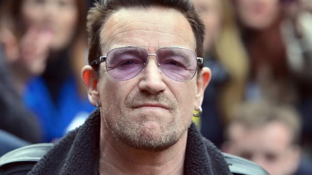 Bono was cycling in New York's Central Park when he injured his arm