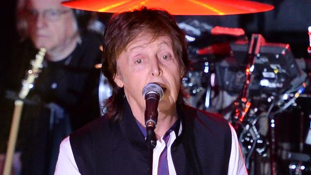 Paul McCartney performed a Valentine's Day concert in New York