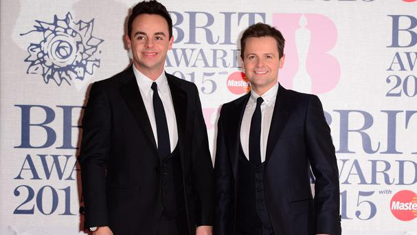 Anthony McPartlin and Declan Donnelly set the trend with matching black three-piece suits