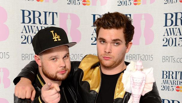 Mike Kerr and Ben Thatcher of Royal Blood are on course to crash into the top five in the albums chart
