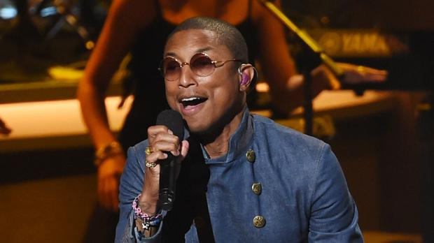 Pharrell Williams said the ruling was about protecting the intellectual rights of people who have ideas (AP)