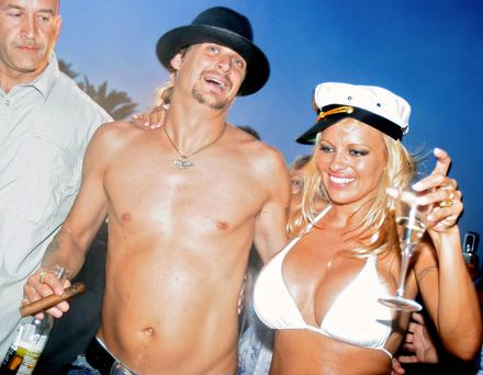 Kid Rock with ex-wife Pamela Anderson. Photo: Getty