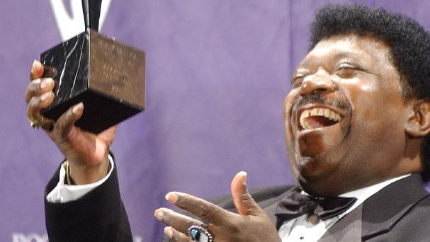 Percy Sledge after his induction into the Rock & Roll Hall of Fame