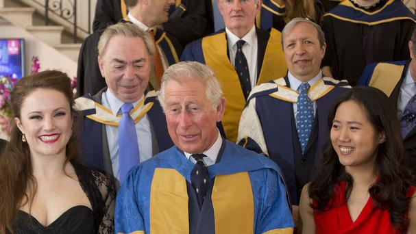 The Prince of Wales pictured on a visit to the Royal College of Music