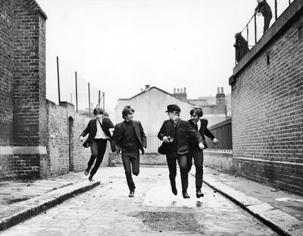 'You can't help but ask me about the Beatles. You've got to do that. I understand' - the Fab Four in 'A Hard Day's night'