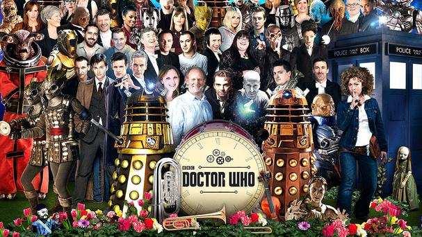 Some of the long running stars from Doctor Who and its most famous monsters celebrate a special musical offering based on the hit TV show (Doctor Who Symphonic Spectacular/PA)